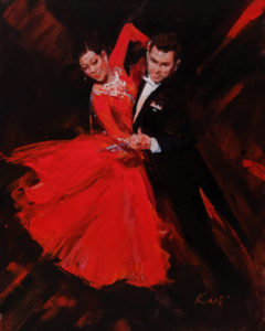 """Let's Dance,"" by Clement Kwan 8 x 10 - acrylic $1300 Unframed"