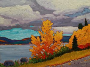 """October Colours,"" by Nicholas Bott 9 x 12 - oil $1330 Unframed"