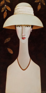 "SOLD ""Ophelia,"" by Danny McBride 12 x 24 - acrylic $1800 (thick canvas wrap)"