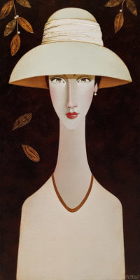 """SOLD """"Ophelia,"""" by Danny McBride 12 x 24 - acrylic $1800 (thick canvas wrap)"""