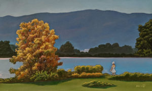 """""""Overlooking the River,"""" by Don Li 6 x 10 - oil $850 Unframed $1060 in show frame"""