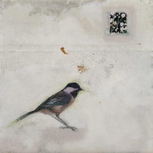 """A Peaceful Heart (Study)"" by Nikol Haskova 6 x 6 - mixed media, high-gloss finish $380 (unframed panel with thick edges)"