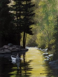 """Quiet Spot,"" by Bill Saunders 6 x 8 - acrylic $500 Unframed"