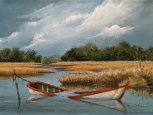 """The Salt Marsh,"" by Mark Fletcher 9 x 12 - acrylic $740 Unframed"