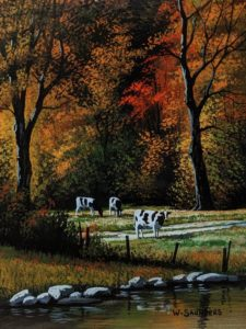 """September Grazing,"" by Bill Saunders 6 x 8 - acrylic $500 Unframed"