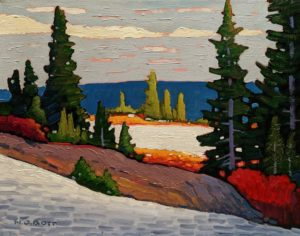 """Seymour Mnt. Alpine,"" by Nicholas Bott 11 x 14 - oil $1380 Unframed"