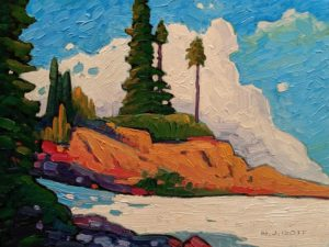 """Seymour Pines,"" by Nicholas Bott 9 x 12 - oil $1330 Unframed"