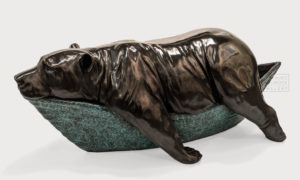 """""""Summer,"""" 29"""" (L) x 12"""" (H) x 9"""" (W) - bronze No. 1 of edition of 9 - available in gallery $9900"""