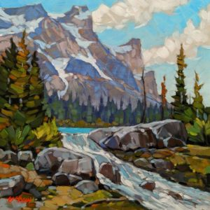 """Summer's Overflow,"" by Graeme Shaw 12 x 12 - oil $685 Unframed"
