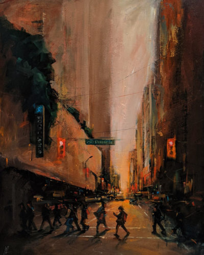 """""""Time to Go Home,"""" by William Liao 24 x 30 - acrylic $2350 (thick canvas wrap)"""