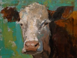 "SOLD ""Whatcha Lookin' At?"" by Paul Healey 12 x 16 – oil $700 Unframed"