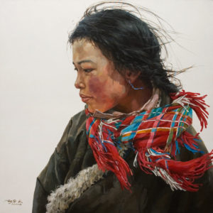 """Wrapped in Colour"" by Donna Zhang 30 x 30 - oil $6100 Unframed"