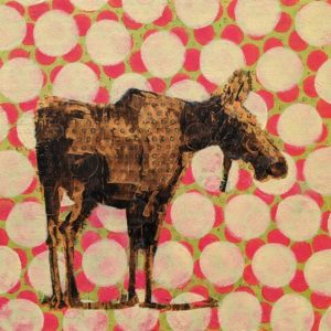 Moose (019-1760) by Les Thomas 12 x 12 - oil $2000 (raised panel)