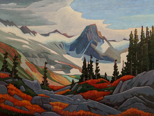 "SOLD ""Mamquam Mountain,"" by Nicholas Bott 36 x 48 - oil $7160 (thick canvas wrap)"