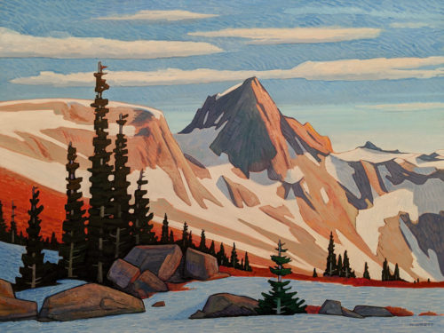 """Salient Mountain Pass,"" by Nicholas Bott 36 x 48 - oil $7160 (thick canvas wrap)"