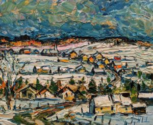 """Les éboulements, Charlevoix,"" by Raynald Leclerc 20 x 24 - oil $2500 Unframed"