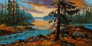 """Gulf Islands Evening Light,"" by Rod Charlesworth 10 x 20 - oil $1445 Unframed"