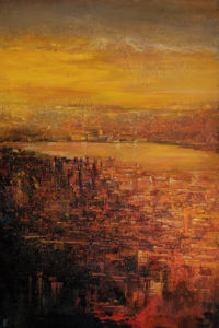 """The Length of the Day,"" by William Liao 24 x 36 - acrylic $2920 Unframed"