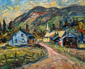 "SOLD ""Notre Dame des Monts, Charlevoix,"" by Raynald Leclerc 20 x 24 - oil $2500 Unframed"