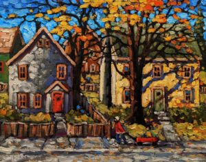 "SOLD ""Radio Flyer,"" by Rod Charlesworth 11 x 14 - oil $1220 Unframed"