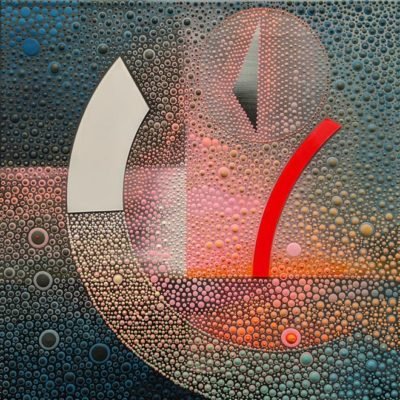 """Sailing 3,"" by Ewa Tarsia 16 x 16 - acrylic $890 Unframed"