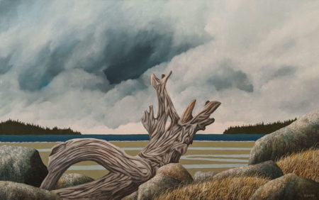 """Distant Thunder,"" by Ken Kirkby 30 x 48 - oil $4030 Unframed"