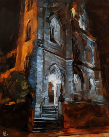 """Holy Rosary Cathedral,"" by William Liao 16 x 20 - oil $1120 Unframed"