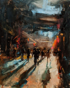 """International Village,"" by William Liao 16 x 20 - oil $1235 Unframed"