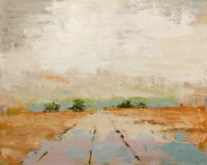 """Intersection,"" by Robert P. Roy 24 x 30 - acrylic $1600 Unframed"