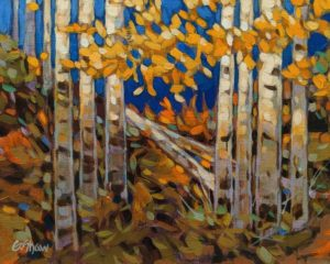 """Lakeside Aspens,"" by Graeme Shaw 8 x 10 - oil $535 Unframed"