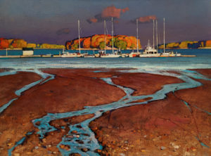 """Low Tide,"" by Min Ma 18 x 24 - acrylic $2670 Unframed"