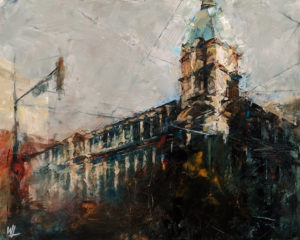 """Sinclair Centre,"" by William Liao 16 x 20 - oil $1235 Unframed"