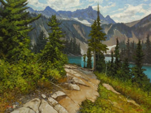 """Snow Lake,"" by Graeme Shaw 30 x 40 - oil $3775 (thick canvas wrap)"