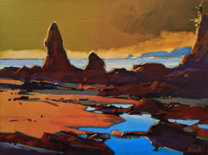"""Bamfield Sunset,"" by Mike Svob 12 x 16 - acrylic $1415 Unframed"