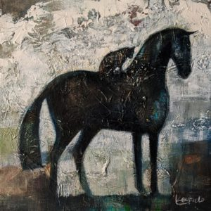 """SOLD """"Composure,"""" by Lee Caufield 12 x 12 - acrylic $570 (thick canvas wrap)"""