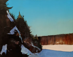 "SOLD ""As Far As I Can See,"" by David Lidbetter 14 x 18 - oil $1475 (thick canvas wrap)"