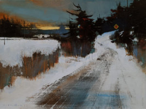 """The Back Way,"" by David Lidbetter 12 x 16 - oil $1370 Unframed"