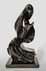 "SOLD ""Black Abstract,"" by Herb Latreille 15 1/2"" (H) - Coquihalla jade $2800"