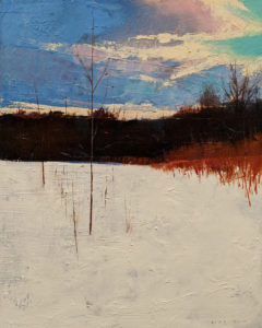 """SOLD """"The Clearing,"""" by David Lidbetter 16 x 20 - oil $1580 Unframed"""