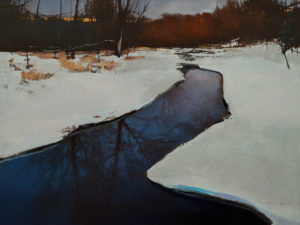 """False Spring,"" by David Lidbetter 18 x 24 - oil $1800 Unframed"