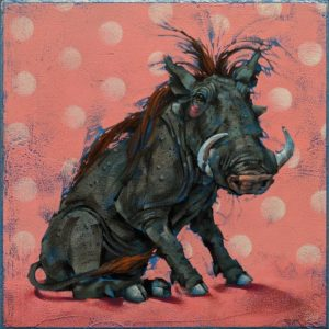 "SOLD ""Beauty is in the Eye of the Beholder,"" by Angie Rees 12 x 12 - acrylic $825 (unframed panel with 1 1/2"" edges)"