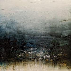 """SOLD """"Breathe and Imagine Glorious Places,"""" by Laura Harris 36 x 36 - acrylic $4995 (thick canvas wrap)"""