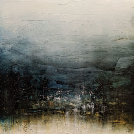 """Breathe and Imagine Glorious Places,"" by Laura Harris 36 x 36 - acrylic $4995 (thick canvas wrap)"