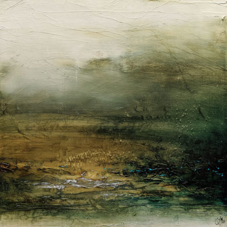 """Fully Rested and Right as Rain,"" by Laura Harris 36 x 36 - acrylic $4995 (thick canvas wrap)"