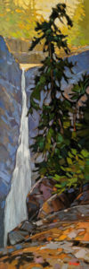 """High Falls View,"" by Graeme Shaw 12 x 36 - oil $1510 Unframed"