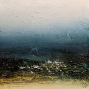 """SOLD """"I'm Dreaming of a West Coast Wander"""" by Laura Harris 24 x 24 – acrylic $2700 (thick canvas wrap)"""