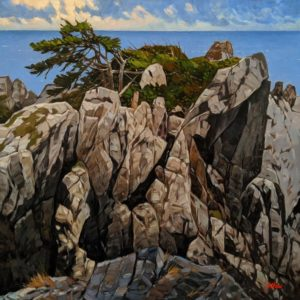 """Last Bastion,"" by Graeme Shaw 36 x 36 - oil $4185 (thick canvas wrap)"
