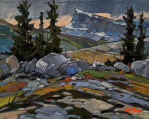 """Rockies Plateau,"" by Graeme Shaw 8 x 10 - oil $535 Unframed"