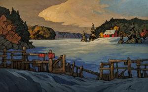 """SOLD """"Border Security,"""" by Phil Buytendorp 30 x 48 - oil $4450 (thick canvas wrap)"""