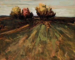 """Champ en automne"" (Field in Autumn) by Robert P. Roy 16 x 20 - oil $1100 Unframed"